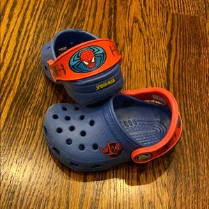 Crocs Infant/Toddler Boy Spider-Man Classic Sz 4-5